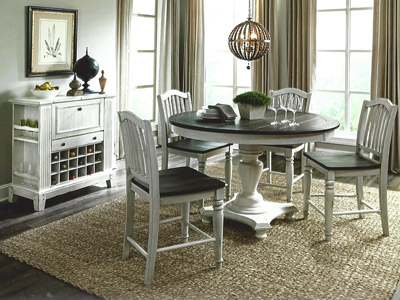 Black and White Dining Room Furniture Sets