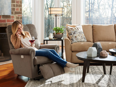 Pierce Home Furnishings in Brodhead, WI offers you over 900 fabrics and leathers  from which to choose for your La-Z-Boy recliner.