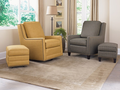Yellow and Gray Wisconsin Living Room Furniture
