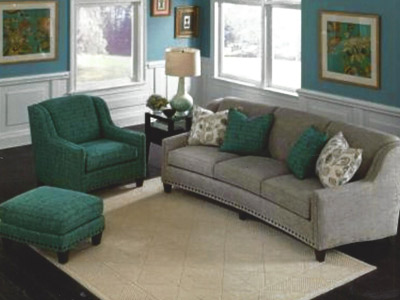 Green and Gray Wisconsin Living Room Furniture